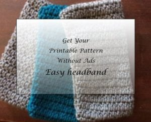 Easy Headband Pattern Printable