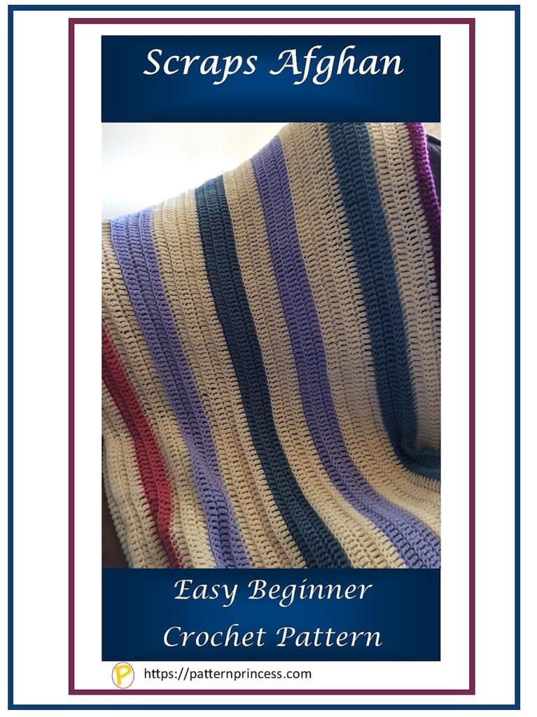 Scraps Afghan crochet pattern 1