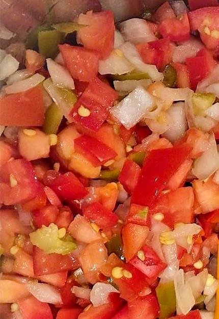 Serving Chunky Fresh Homemade Salsa