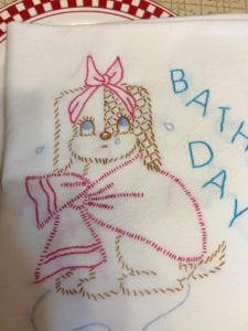Embroidered Flour Sack Towel - Pattern Princess