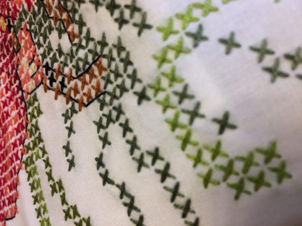 cross stitch close up