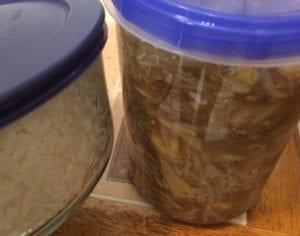 storage of food