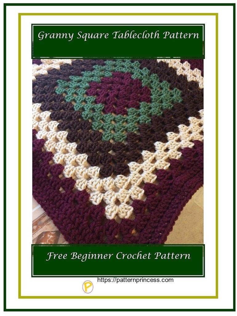 Granny Square Tablecloth Pattern 1