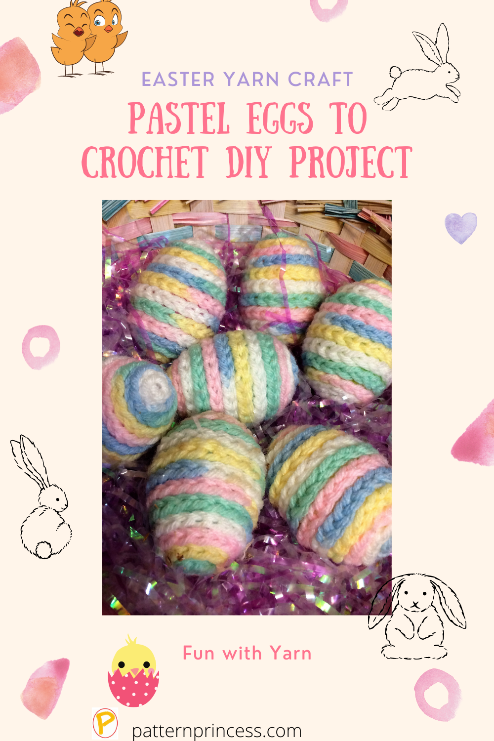 Pastel Eggs to Crochet DIY Project
