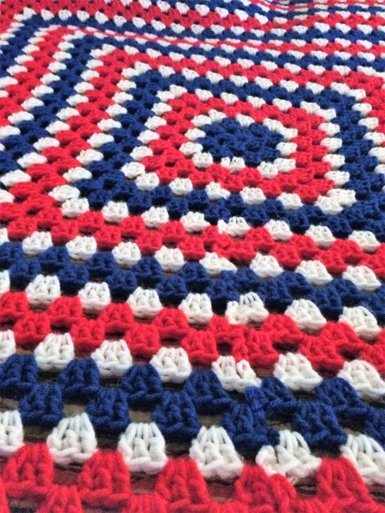 Visual of Red, White, and Blue sections