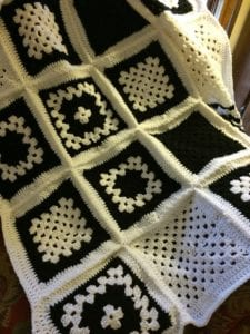 granny squares pattern afghan