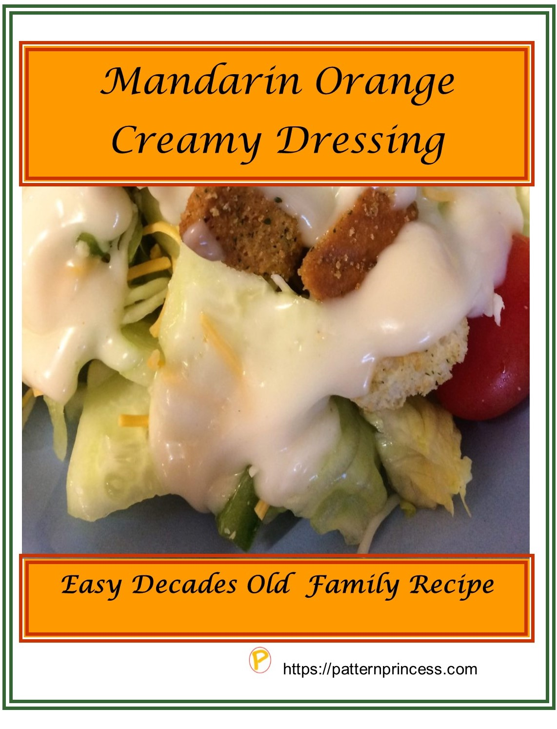 Mandarin Orange Creamy Dressing
