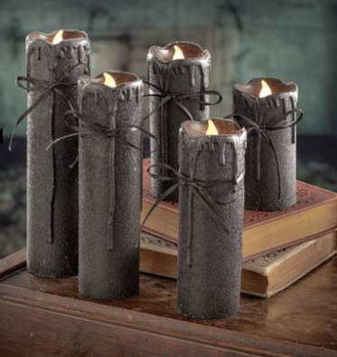 Black Spell Taper Candles