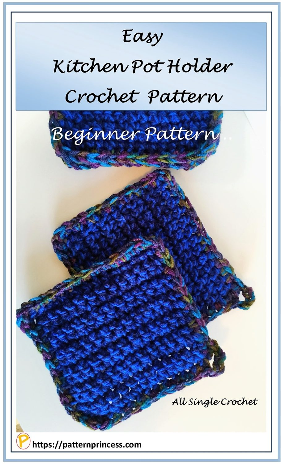 Easy Kitchen Pot Holder Crochet Pattern Pattern Princess