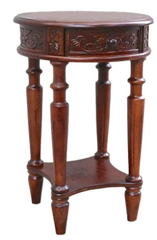 Windsor Carved Wood Round Table