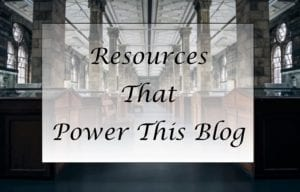 Resources that power this blog