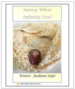 Snowy White Infinity Cowl 1