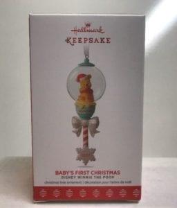 2017 hallmark disney winnie the pooh baby's first christmas ornament