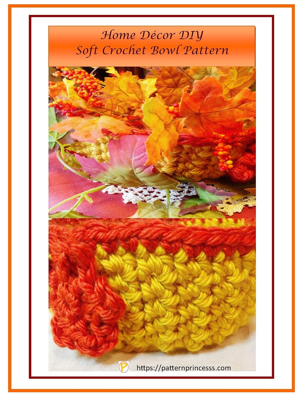 Home Decor DIY Soft Crochet Bowl Pattern 1