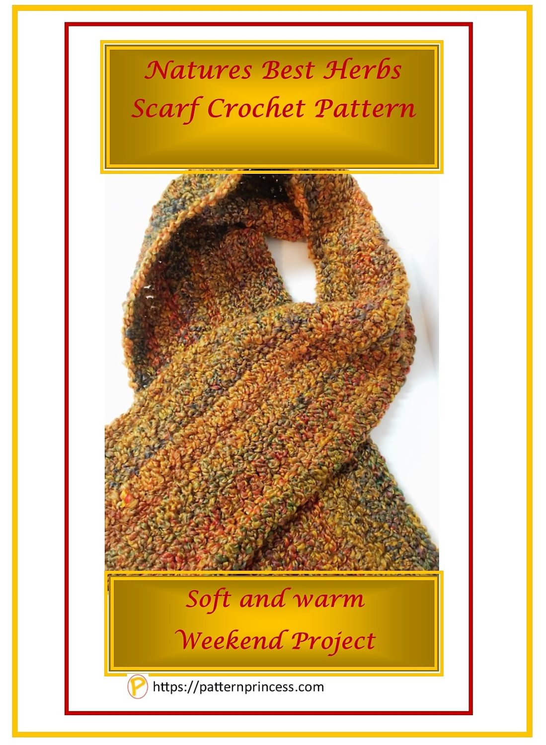 Natures Best Herbs Scarf Crochet Pattern 1