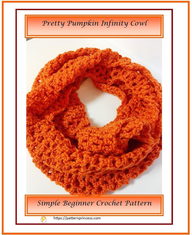 Pretty Pumpkin Infinity Cowl 1