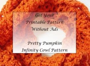 Pretty Pumpkin Infinity Cowl Pattern Printable