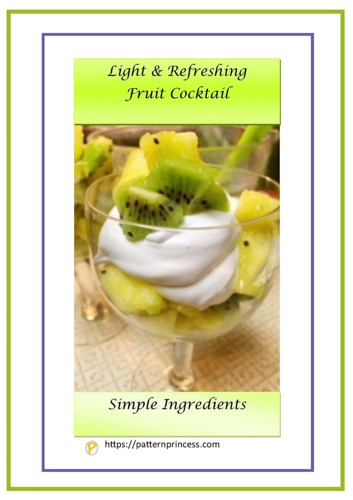 light and refreshing fruit cocktail 1