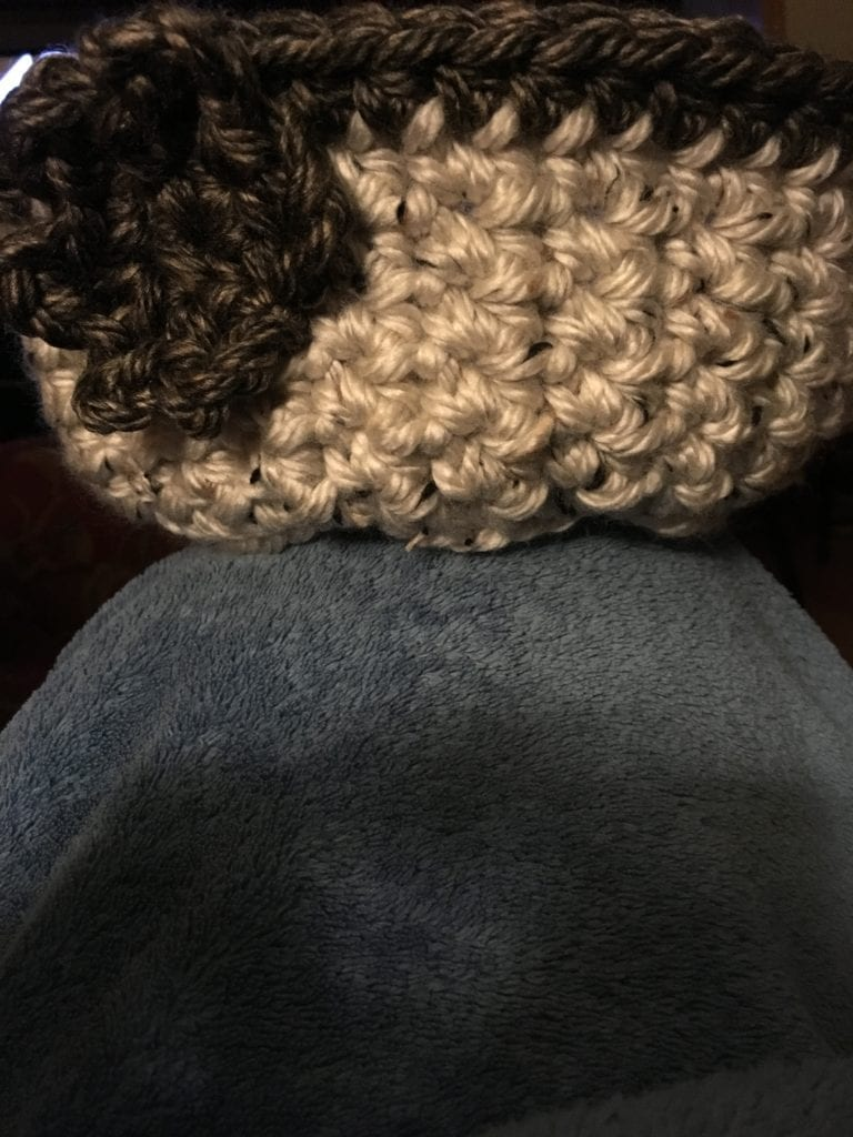 picture of soft crochet basket