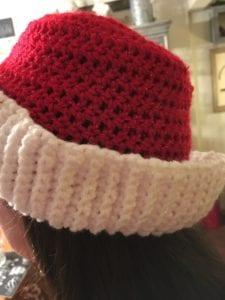 Christmas Hat being worn