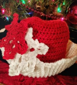 Christmas hat with snowflakes