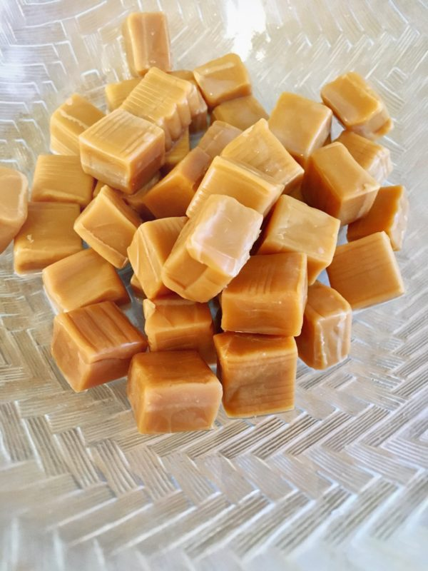 Unwrapped caramels