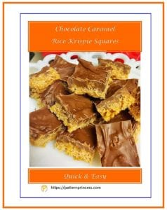 Chocolate Caramel Rice Krispie Squares 1