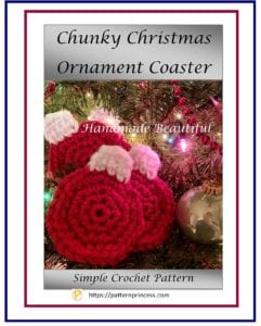Chunky Christmas Ornament Coaster 1