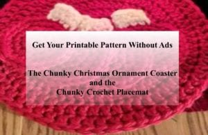 Chunky Crochet Placement and Ornament Printable