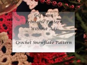 Crochet Snowflake Pattern Printable