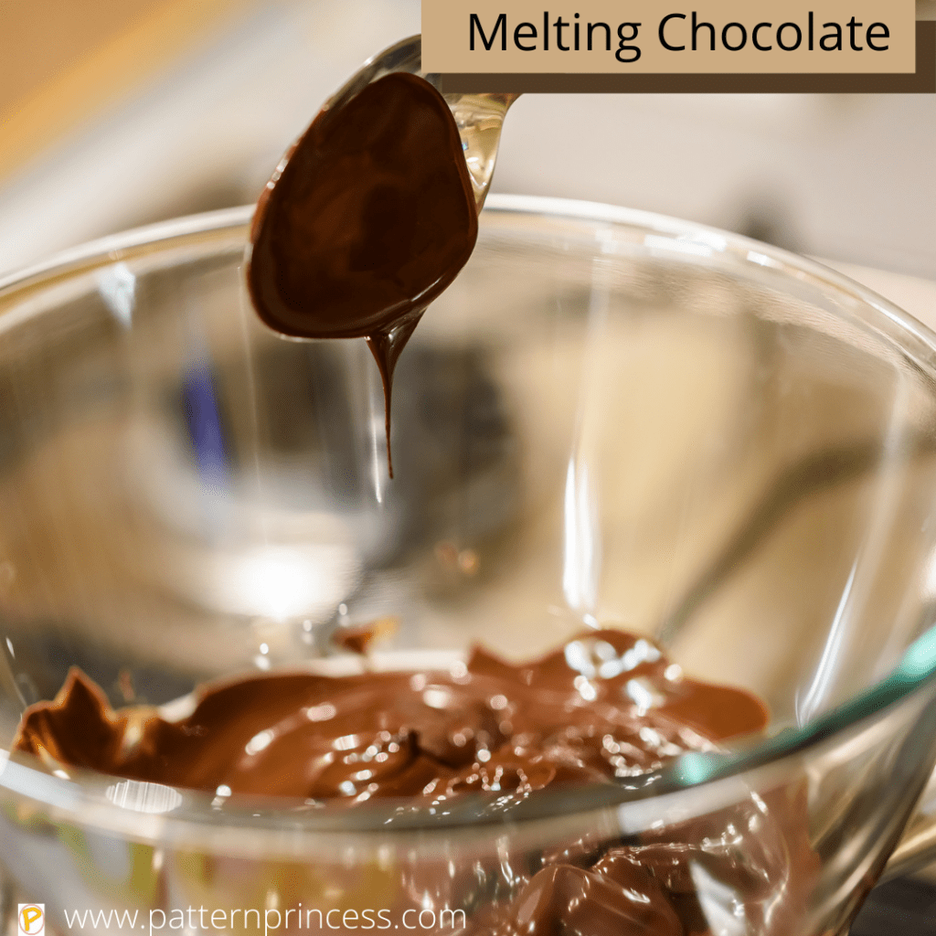 Melting Chocolate in a Glass Bowl