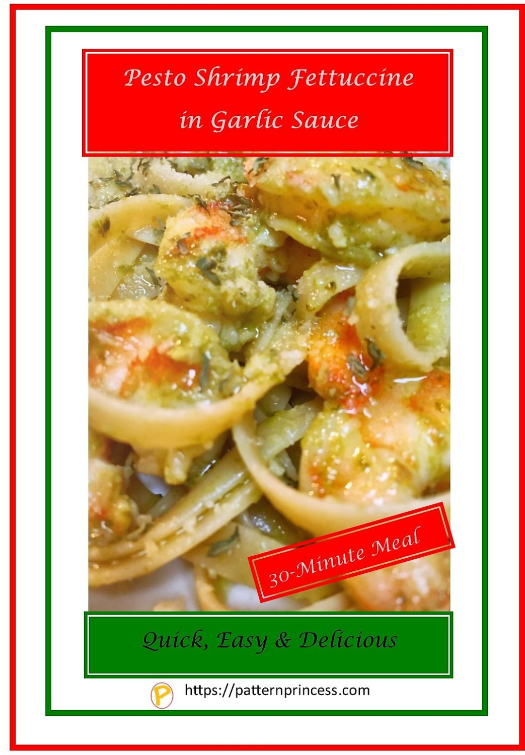 Pesto Shrimp Fettuccine in Garlic Sauce 1