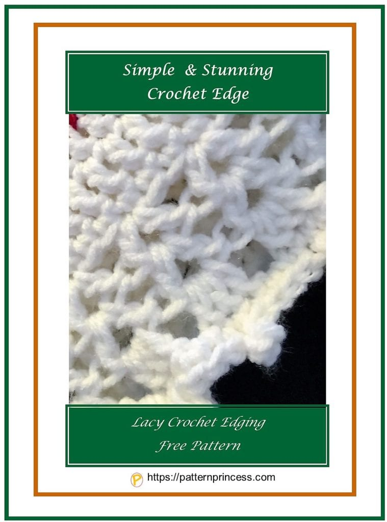 Simple and Stunning Crochet Edge 1