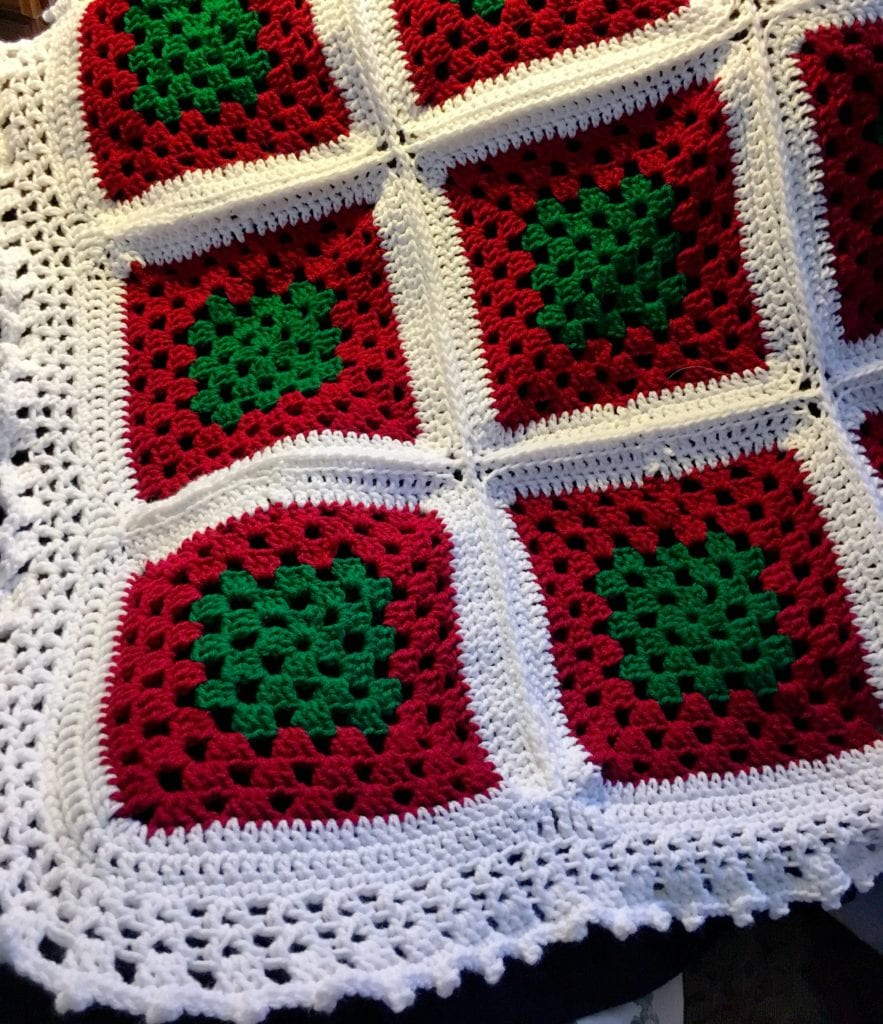 Winter Colors Crochet Afghan