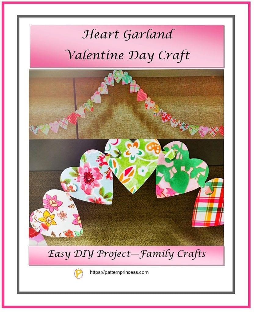 Heart Garland Valentine Day Craft 1