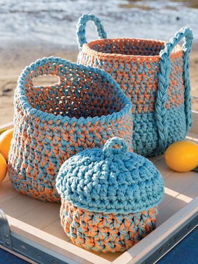 Triad Baskets Crochet Pattern