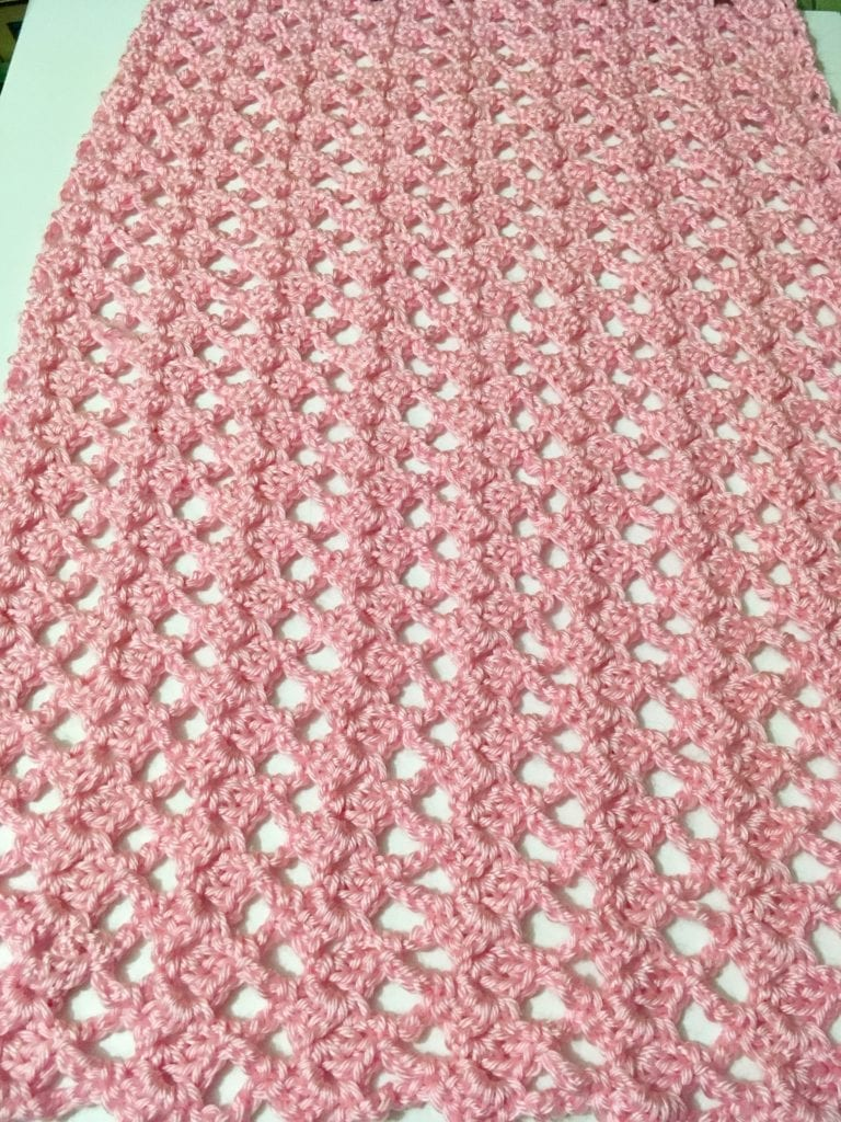 Victoria Lacy Shawl laying flat