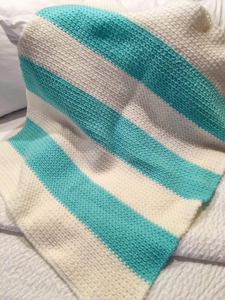 Linen Stitch Baby Blanket