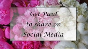 Get paid to share on social media
