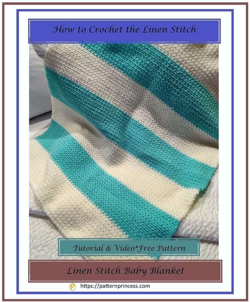 How to Crochet the Linen Stitch 1