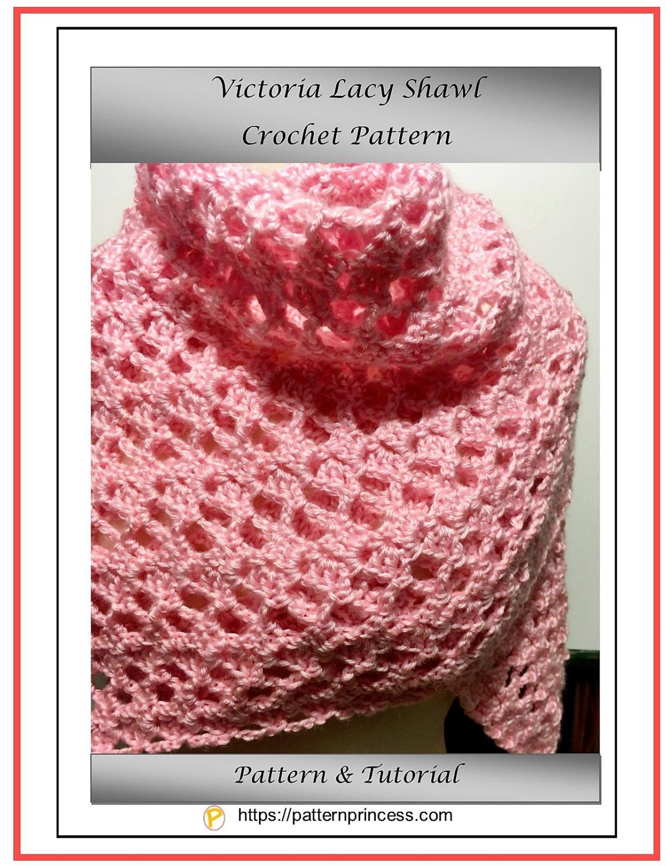 Victoria Lacy Shawl Crochet Pattern 1