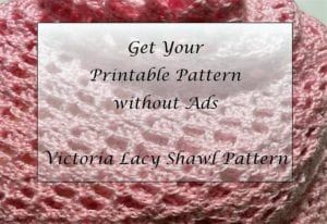 Victoria Lacy Shawl Crochet Pattern Printable