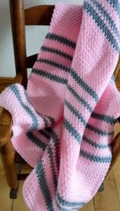 Pink and Grey Baby Afghan