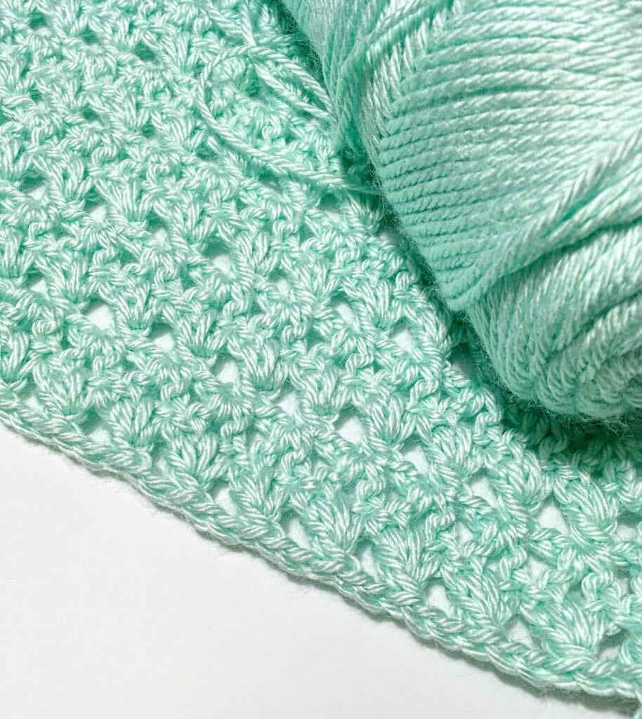 yarn and stitches for Crochet Wrap