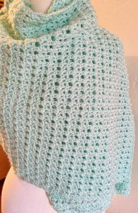 Misty Crochet Lacy Wrapped around shoulders