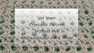 Misty Crochet Lacy Wrap Printable