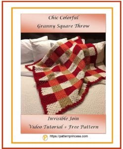 Chic Colorful Granny Square Throw 1