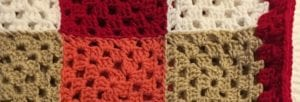 Chick Colorful Granny Square close up of invisible join