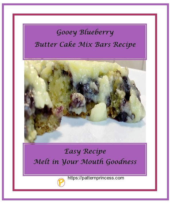 Gooey Blueberry Butter Cake