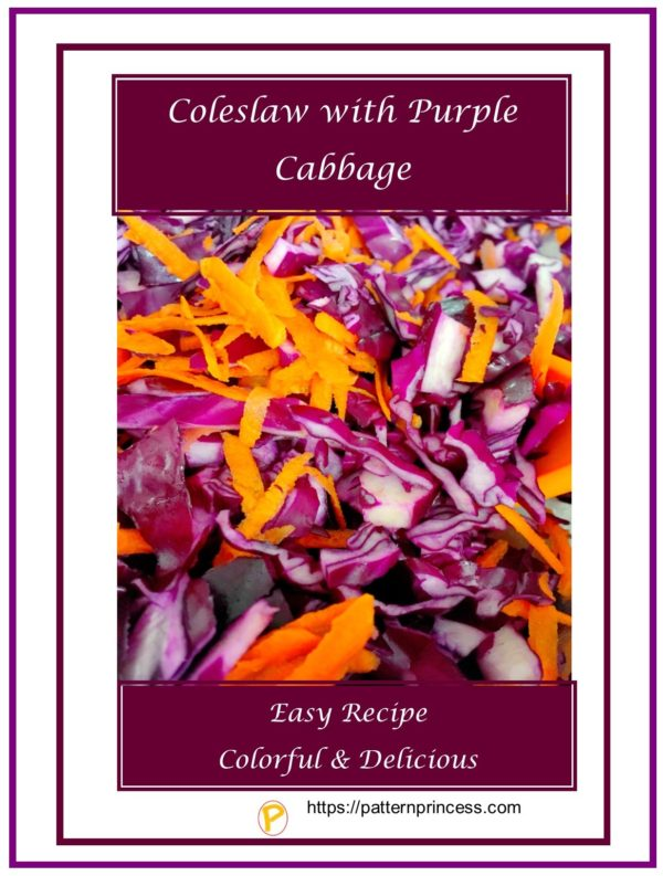 Coleslaw with Purple Cabbage
